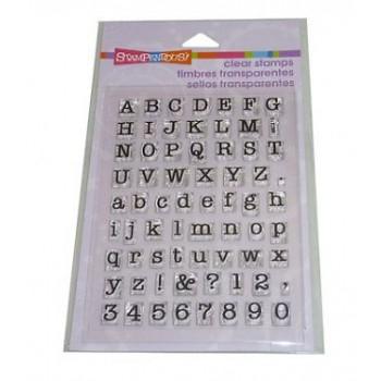 Cling Small Typewriter Alphabet